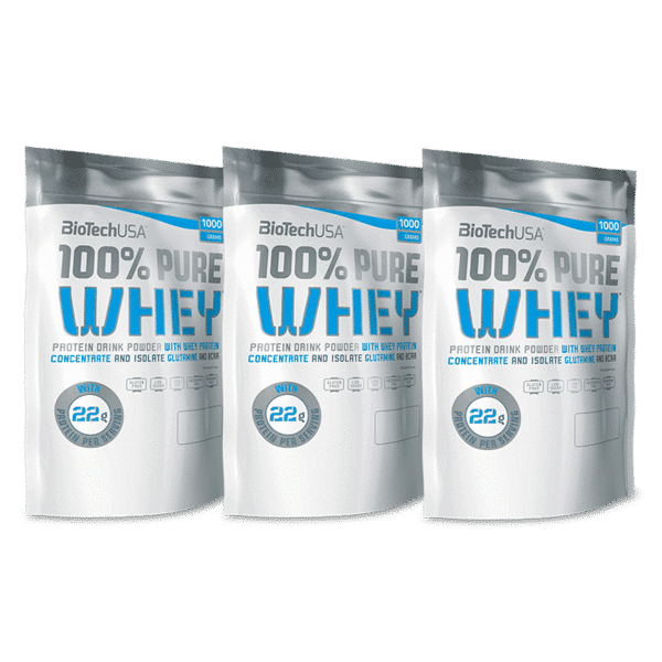 100% Pure Whey 1000g 3-pack
